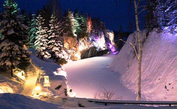 Горный парк Рускеала зимой